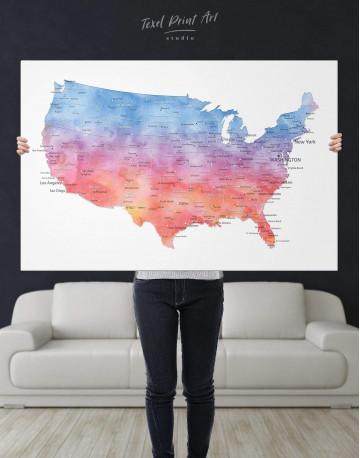 Colorful USA Map Canvas Wall Art - image 5