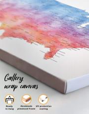 Colorful USA Map  Canvas Wall Art - Image 4