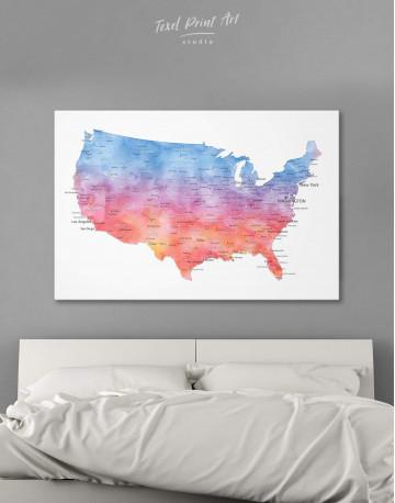 Colorful USA Map Canvas Wall Art - image 6