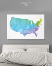 Blue USA Map Canvas Wall Art - Image 6