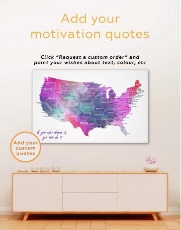 USA States Map Canvas Wall Art - image 6