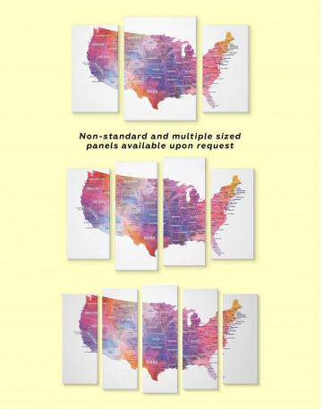 USA States Map Canvas Wall Art - image 5