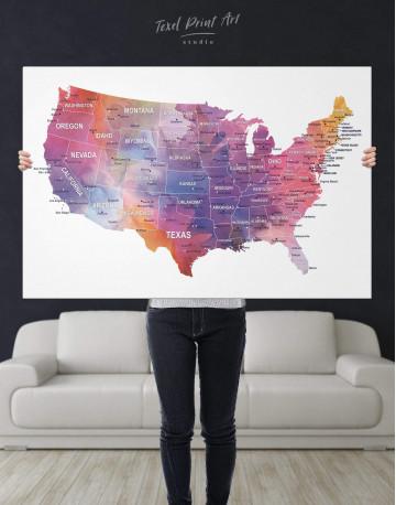 USA States Map Canvas Wall Art - image 2