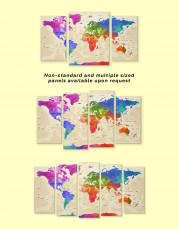 Rainbow Travel Map  Canvas Wall Art - Image 1