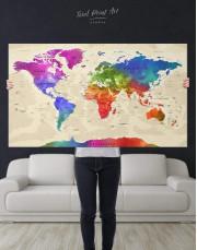 Rainbow Travel Map  Canvas Wall Art - Image 4