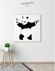 Panda with Guns by Banksy Canvas Wall Art - Image 0