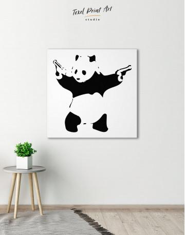 Panda with Guns Canvas Wall Art