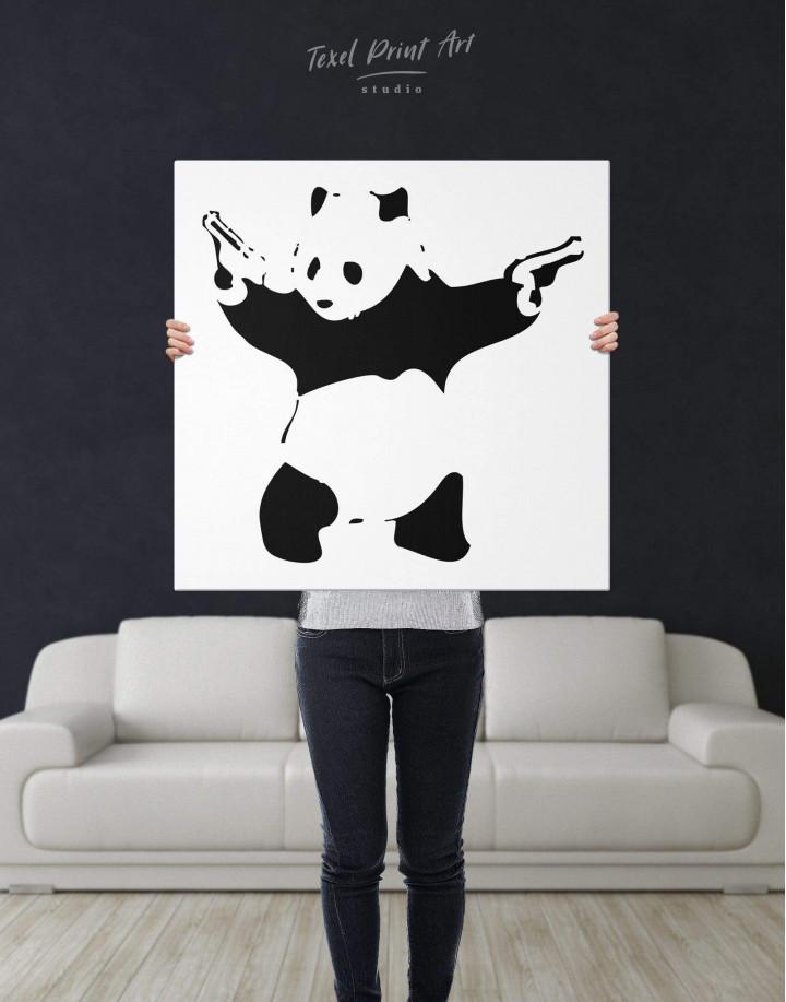 Panda with Guns by Banksy Canvas Wall Art - Image 2