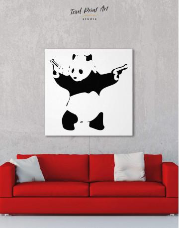Panda with Guns Canvas Wall Art - image 1