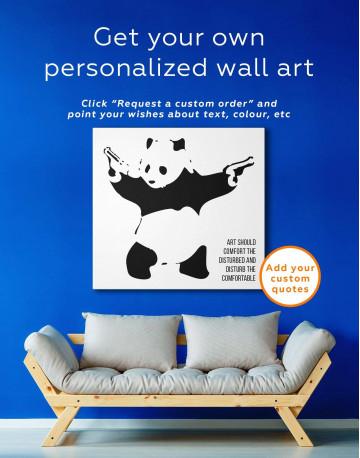 Panda with Guns Canvas Wall Art - image 3