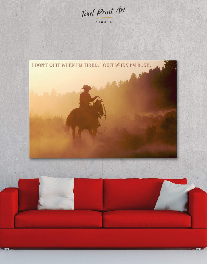 Cowboy Canvas Wall Art - Image 0