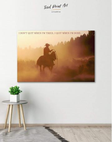 Cowboy Canvas Wall Art - image 6