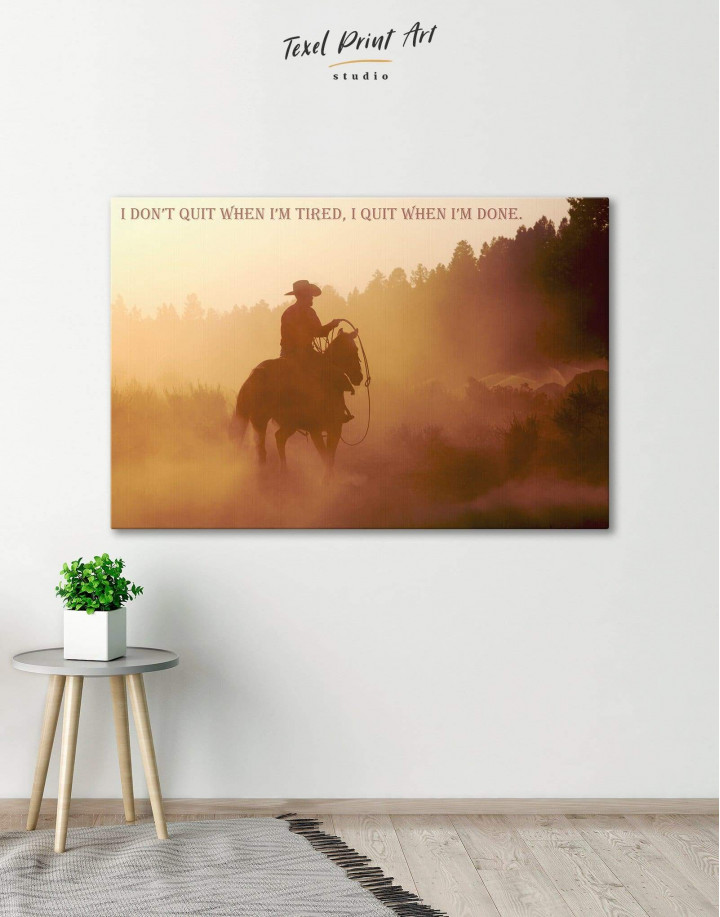 Cowboy Canvas Wall Art - Image 6