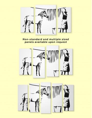 Washing Zebra Stripes Canvas Wall Art - image 2
