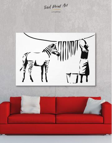 Washing Zebra Stripes Canvas Wall Art - image 5