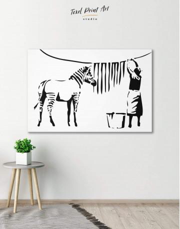 Washing Zebra Stripes Canvas Wall Art