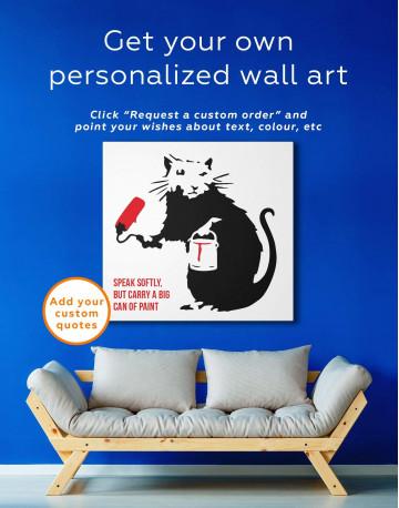 Paint Roller Rat Canvas Wall Art - image 3