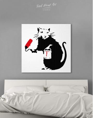 Paint Roller Rat Canvas Wall Art
