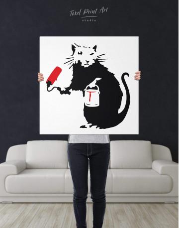 Paint Roller Rat Canvas Wall Art - image 2