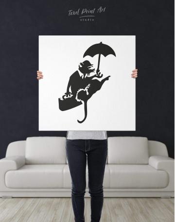 Umbrella Rat Canvas Wall Art - image 3