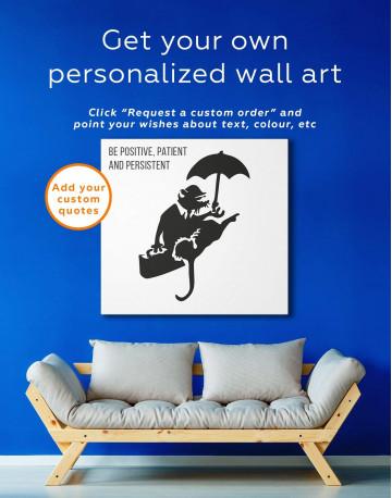 Umbrella Rat Canvas Wall Art - image 1