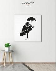Umbrella Rat by Banksy Canvas Wall Art - Image 0
