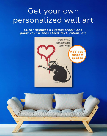 Love Rat Canvas Wall Art - image 5