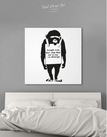 Chimp Laugh Now Canvas Wall Art