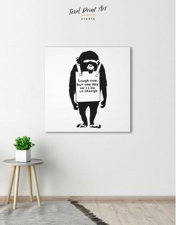 Chimp Laugh Now Canvas Wall Art - image 1