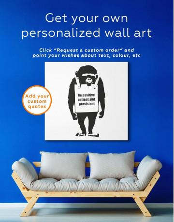 Chimp Laugh Now Canvas Wall Art - image 4