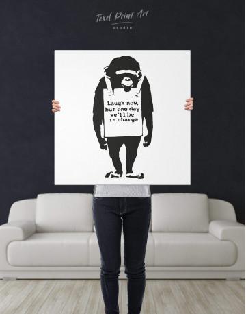 Chimp Laugh Now Canvas Wall Art - image 3