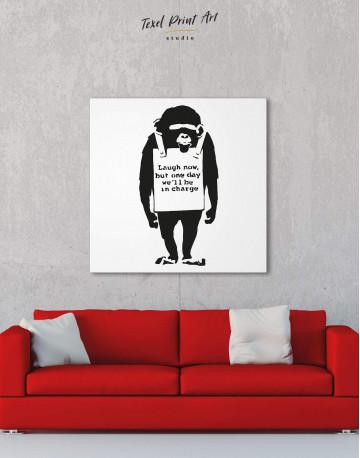 Chimp Laugh Now Canvas Wall Art - image 2