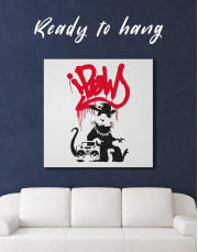 Gangsta Rat by Banksy Canvas Wall Art - Image 3
