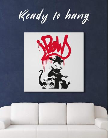 Gangsta Rat Canvas Wall Art - image 3