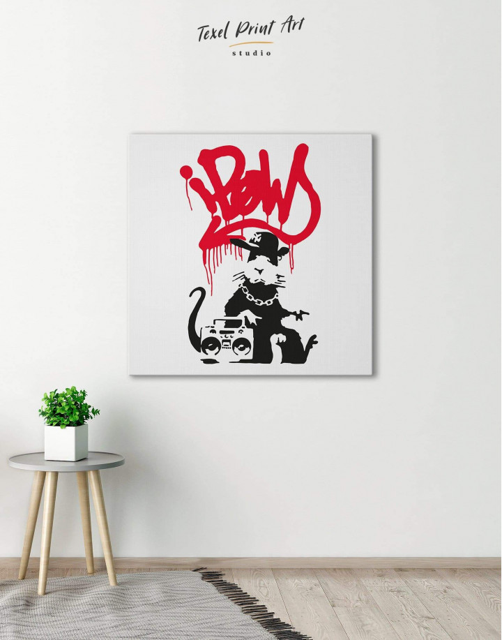 Gangsta Rat by Banksy Canvas Wall Art - Image 0