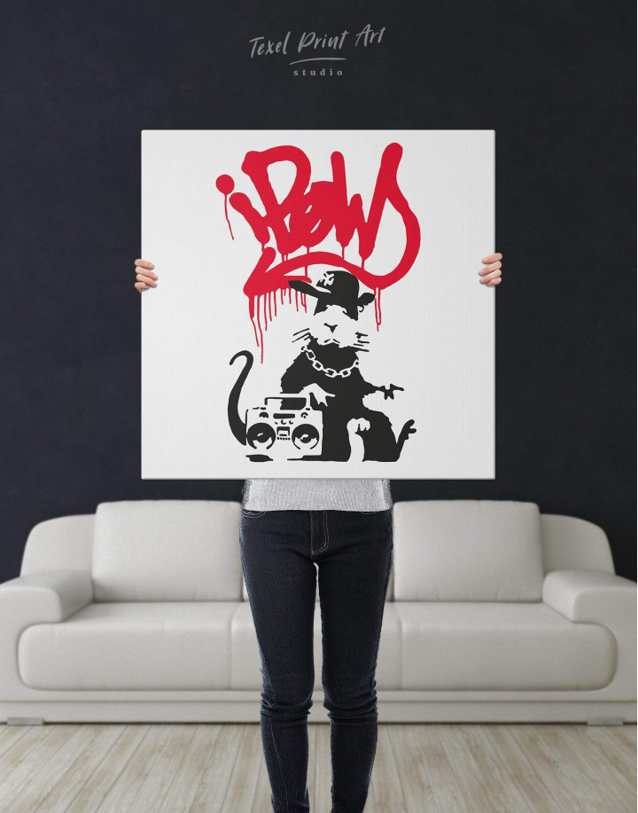 Gangsta Rat by Banksy Canvas Wall Art - Image 5