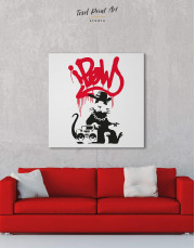 Gangsta Rat by Banksy Canvas Wall Art - Image 4