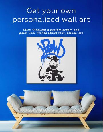Gangsta Rat Canvas Wall Art - image 5