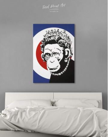 Monkey Queen Canvas Wall Art - image 1