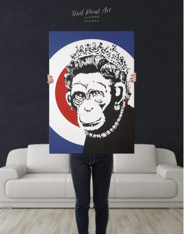 Monkey Queen Canvas Wall Art - image 2