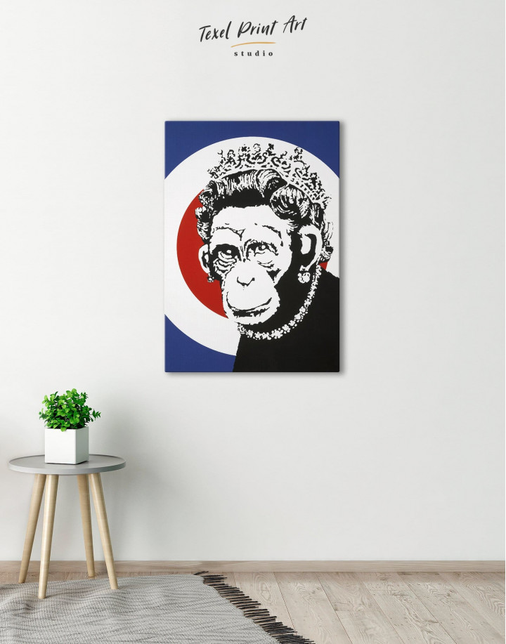 Monkey Queen by Banksy  Canvas Wall Art - Image 0