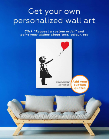 Girl with Balloon Canvas Wall Art - image 1