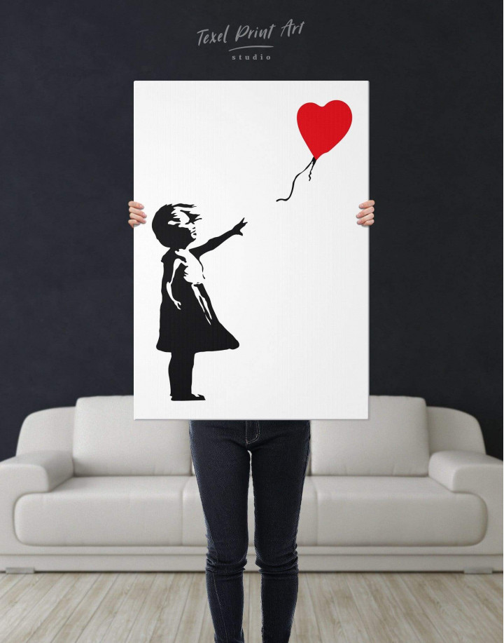 Girl with Balloon by Banksy Canvas Wall Art - Image 2