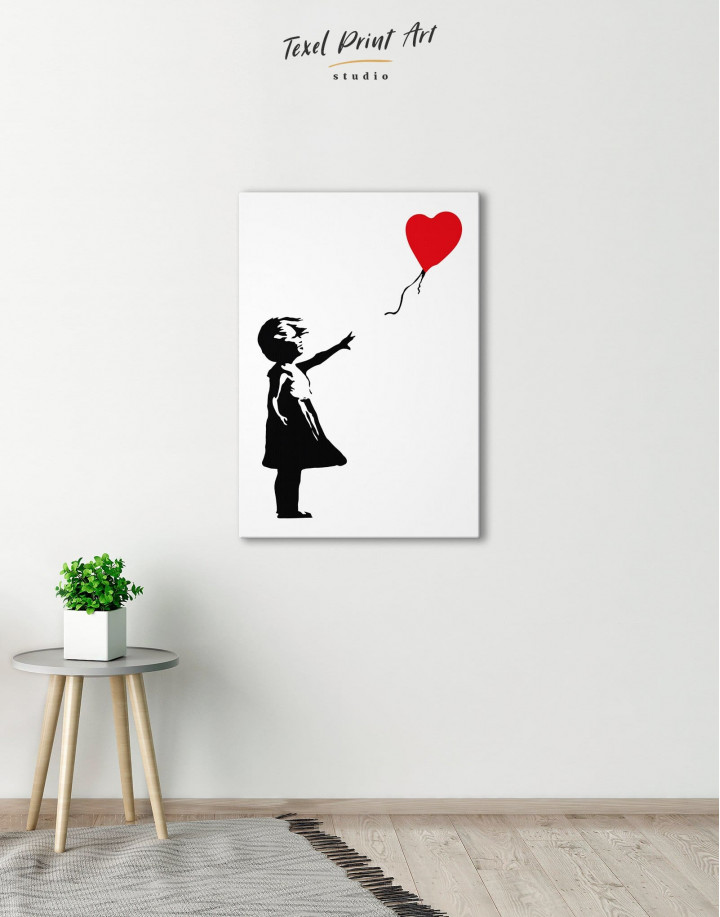 Girl with Balloon by Banksy Canvas Wall Art - Image 0