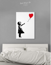 Girl with Balloon by Banksy Canvas Wall Art - Image 3