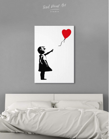 Girl with Balloon Canvas Wall Art - image 3