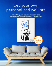Get Out While You Can by Banksy Canvas Wall Art - Image 1