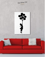 The Girl with the Balloons by Banksy Canvas Wall Art - Image 3