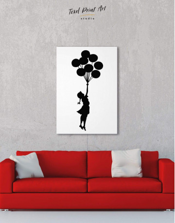 The Girl with the Balloons Canvas Wall Art - image 1