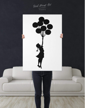 The Girl with the Balloons Canvas Wall Art - image 2